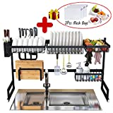 Dish Drying Rack Over Sink Kitchen Supplies Storage Shelf Countertop Space Saver Display Stand...