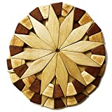 Natural Wood Trivets For Hot Dishes - 2 Eco-friendly, Sturdy and Durable 7'' Kitchen Hot Pads....