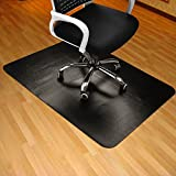 Black Chair Mat for Hard Wood Floor 35x47' Rectangular Thick & Sturdy Multi-Purpose Office Chair...