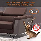 Anti Cat Scratching Deterrent Tape, Scratch Protection Tapes for Pet, Clear Double Sided Training...