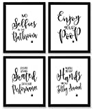 TheNameStore Bathroom Quotes and Sayings Art Prints | Set of Four Photos 8x10 Unframed | Great Gift...
