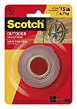 Scotch Mounting, Fastening & Surface Protection Scotch Outdoor Mounting Tape, x 60-inches, Gray,...