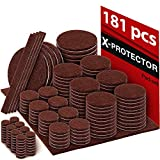 X-PROTECTOR Premium Ultra Large Pack Felt Furniture Pads 181 Piece! Felt Pads Furniture Feet All...