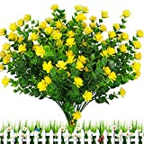 E-HAND Artificial Outdoor Flowers Plants UV Resistant Fake Greenery for Window Box Cemetery Home...