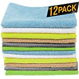 12 Pack Microfiber Cloths Cleaning Supplies [Get Lint-Free Polished Results] Micro Fiber Cleaning...