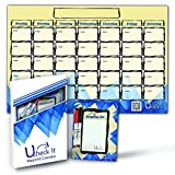 Dry Erase Board Monthly Magnetic Calendar for Refrigerator - 11'X17' - 2017 Best Fridge Weekly...
