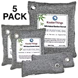 Bamboo Charcoal Air Purifying Bags Variety 5 Pack (1 x 500g) (2 x 200g) (2 x 75g) Natural Air...