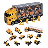 Toyard Toys for Boy and Girl, Toy Truck Car 11 in 1 Die Cast Engine Construction Car Truck Play...
