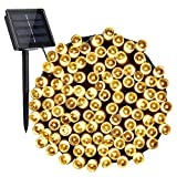 Toodour Solar String Lights 72ft 200 LED 8 Modes Solar Powered Fairy String Lights Waterproof...