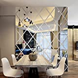 Wllsagl Xouwvpm Modern Mirror Style High-end Acrylic 3D Mirror Wall Stickers Prismatic Combination...