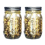 Mason Jar Lights Solar Powered iThird 2 Pack 20 LED String Lights Fairy Lights Outdoor for Patio...