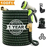VIENECI 100ft Garden Hose Upgraded Expandable Hose, Durable Flexible Water Hose, 9 Function Spray...
