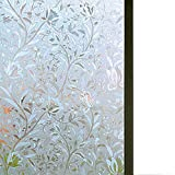 Bloss Excellent Quality 3D Static Cling Window Film Self adhesive Window Covering Decorative Flower...