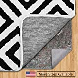 Gorilla Grip Original Felt + Rubber Underside Gripper Area Rug Pad 1/4 Inch Thick (8x10 Feet) Made...