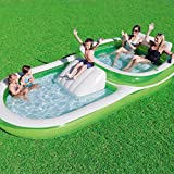 Bestway H2OGO! Two-In-One Wide Inflatable Family Outdoor Pool, Features Dual Pool and Slide Combo,...