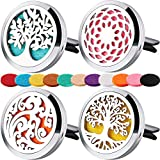 4 PCS Car Essential Oil Diffuser Vent Clip,Car Aromatherapy Diffuser Stainless Steel Locket with 44...