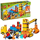 LEGO Duplo Big Construction Site 10813 Toddler Construction Toy Set with Toy Dump Truck, Crane and...