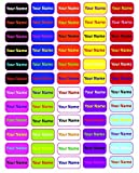 Waterproof Stick On Clothing Labels- Personalized with your name! (90) (Laminated Optional)