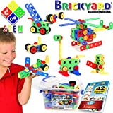 163 Piece STEM Toys Kit | Educational Construction Engineering Building Blocks Learning Set for Ages...