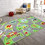 79'X40' Kids Rug Play mat for Toy Cars, Safe,Colorful and Fun Play Rugs with Roads for Bedroom and...