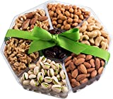 Holiday Nuts Gift Basket | Large 7-Sectional Delicious Variety Mixed Nuts Prime Gift | Healthy Fresh...