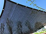 YGS Perfect Sunblock Shade Cloth With Grommets 70% UV 10 ft x 20 ft Black for Plant Cover Greenhouse...