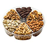 Freshly Roasted 6 Mixed Nuts Gift Tray | Healthy & Gourmet Snacks, Almonds, Pistachios, Cashews,...