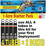 SPARTAN MOSQUITO ERADICATOR ONE Acre Starter Pack (4 Tubes); Best Whole Yard Outdoor Killer Barrier...