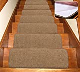 Seloom Stair Treads Carpet Non-Slip with Skid Resistant Rubber Backing Specialized for Indoor Wood...