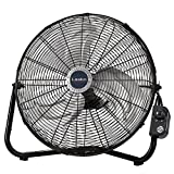 Lasko 20' High Velocity QuickMount, Black-Easily Converts from a Floor Wall Fan, 7 x 22 x 22 inches,...