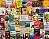 White Mountain Puzzles 'Best Sellers', Vintage Book Covers Collage, 1000 Piece Jigsaw Puzzle