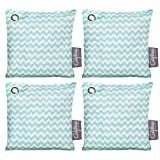 Bamboo Charcoal Air Purifying Bags (4 Pack), 200g Activated Charcoal Odor Eliminator Pack in Chevron...