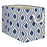 DII CAMZ10033 Collapsible Polyester Storage Basket or Bin with Durable Cotton Handles, Home...