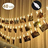 Adecorty 40 LED Photo Clip Lights - Photo Clips String Lights USB Powered Fairy Lights, Hanging...