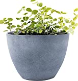 Flower Pot Large 14.2' Garden Planters Outdoor Indoor, Unbreakable Resin Plant Containers with Drain...
