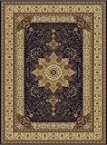 Large Luxury Silk Traditional Rug For Living Room Navy Red Cream Green Beige Colors Rug 8x12 Rugs...