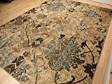 Large 8x11 Contemporary Rugs for Living Room Dining Rugs 8x10 Under 100 Indoor Rugs Office Blue...