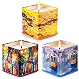 Soyyla Scented Candles 3 Pack Gift Set: Lavender,Peach and Grapefruit, 3 x 4 Ounce Eco-friendly...