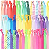 Colorful No Crease Hair Ties - Huge Pack Of Fun Hair Accessories For Girls - Birthday Gifts For...
