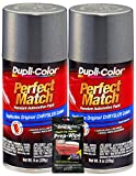 Dupli-Color Charcoal Gray Metallic Perfect Match Automotive Paint for Chrysler Vehicles - 8 oz,...