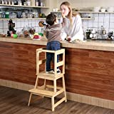 SDADI Kids Kitchen Step Stool with Safety Rail CPSC Certified - for Toddlers 18 Months and Older,...