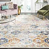Safavieh Madison Collection MAD611B Cream and Multicolored Bohemian Chic Distressed Area Rug (9' x...