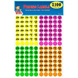 Garage Sale Pup Preprinted Pricing Labels, Bright Neon Multicolored: Yellow/Pink/Green/Orange, Pack...