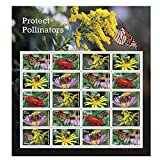 Protect Pollinators Sheet of 20 Forever USPS First Class one Ounce Postage Stamps Environment...