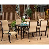 Brigantine 7-Piece Rust-Free Aluminum Outdoor Patio Dining Set with 6 Dining Chairs and Aluminum...