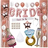 Bridal Shower Decorations by Serene Selection, Bachelorette Party Supplies, Rose Gold, White,...