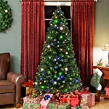Best Choice Products 7ft Pre-Lit Fiber Optic Artificial Christmas Pine Tree w/ 280 UL-Certified...