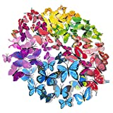 72 x PCS 3D Colorful Butterfly Wall Stickers DIY Art Decor Crafts for Nursery Classroom Offices Kids...