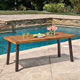 Great Deal Furniture 298192 Spanish Bay Acacia Wood Outdoor Dining Table | Perfect for Patio | with...