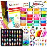 DIY Crystal Slime Kit - Slime kits for Girls Boys Toys with 48 Glitter Powder,Clear Slime Supplies...